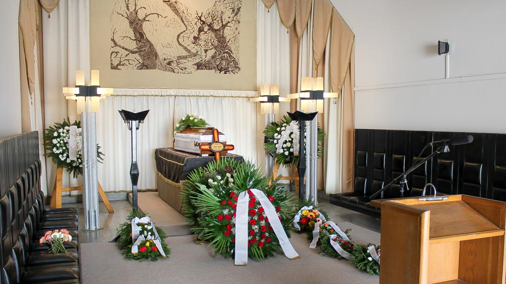 koporsós temetési ravatal